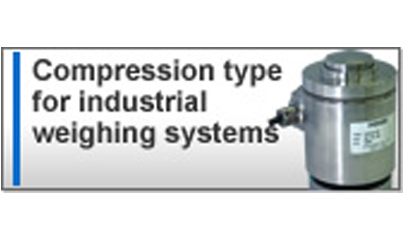 Compression type for industrial weighing systems
